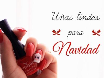 Decoración de uñas para navidad: Santa Claus ♥ Christmas Nail art DIY - ImOctans