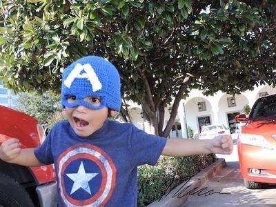 DIY Capitan America gorra hat crochet