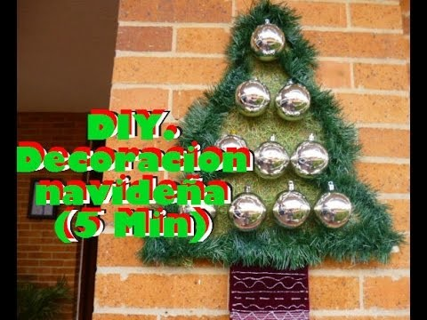 DIY. Decoracion Navideña (5 Min)   Manualidades Yeye