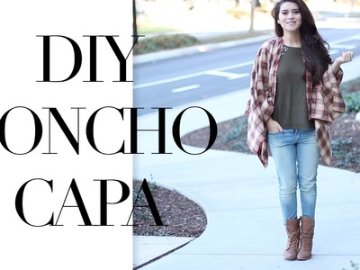 DIY PONCHO CAPA SUPER FÁCIL | Fashion Riot