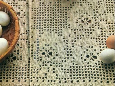 Gráficos para tejer tapete con flores a ganchillo