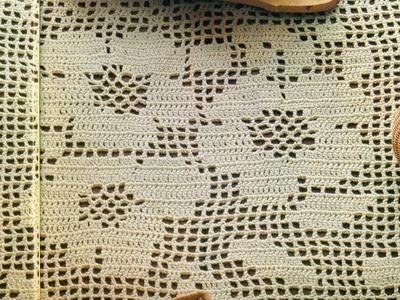 Gráficos para tejer tapete trío de rosas a ganchillo