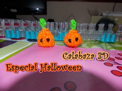 HALLOWEEN calabaza 3D.  pumpkin 3D on rainbow loom