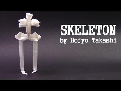 Halloween Origami SKELETON by Hojyo Takashi - Yakomoga Origami tutorial