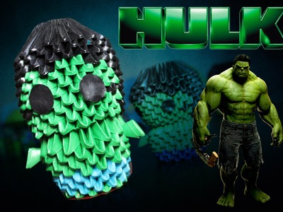 Hulk 3D Origami   Pekeño ♥