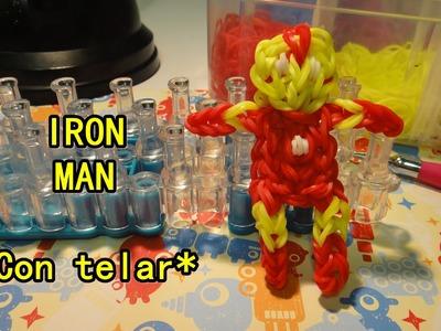 Iron man de gomitas ligas con telar RAINBOW LOOM