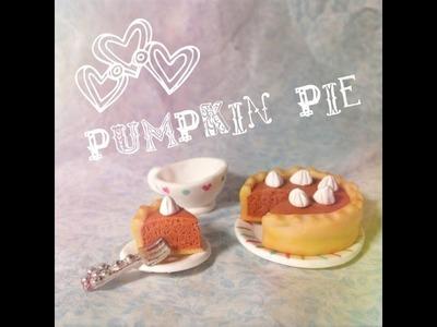 Pumpkin - Pie - Calabaza (Polymer Clay.Arcilla Polimérica)