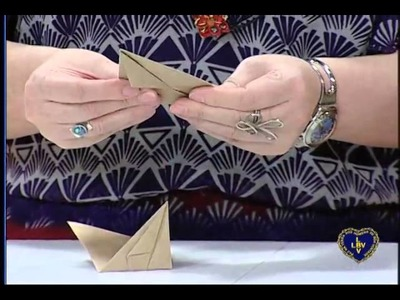 Artesanato - Porta-caneta em origami