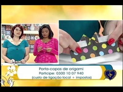 Artesanato - Porta-copos de origami