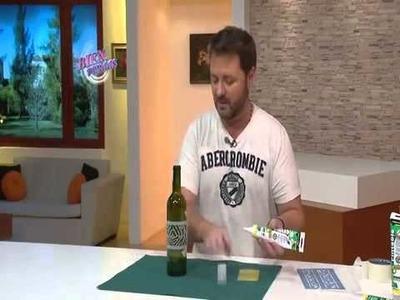 Botellas con falso repujado con el Sellador Pintable de Suprabond -Martín Muñoz-