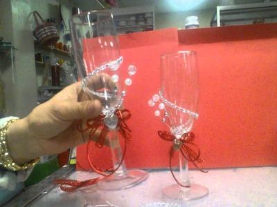 Como.decorar set de copas quinceanera o invitados