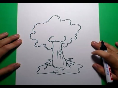 Como dibujar un arbol  paso a paso 3 | How to draw a tree 3