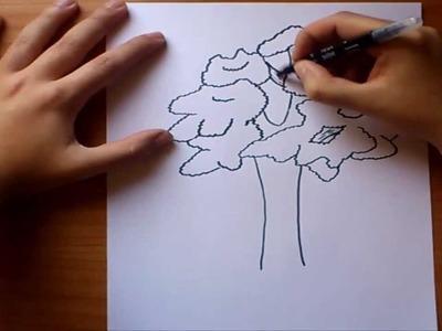 Como dibujar un arbol  paso a paso 2 | How to draw a tree 2
