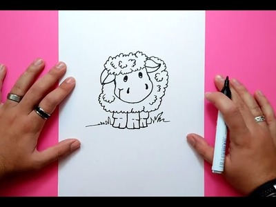 Como dibujar una oveja paso a paso 2 | How to draw a sheep 2
