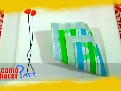 Como Doblar Servilletas de Papel: Forma de Piña (simple)