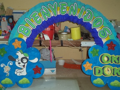 Como hacer arco de Bienvenida - How to make a bow Welcome DIY
