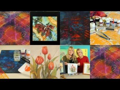 Como pintar seda - Tecnicas de Pintura en Seda  - Conny Mellien Becker