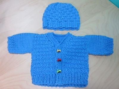 Como Tejer  abrigito para bebé recién nacido Parte #2. Con Ruby Stedman