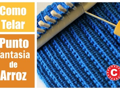 Como Telar El Punto Fantasia de Arroz   Farrow Rib Stitch in Spanish