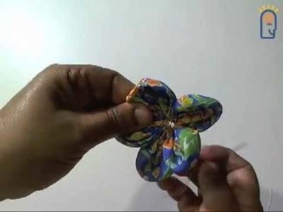 Curso de Artesanato - Aula 004 - Fuxico Flor III