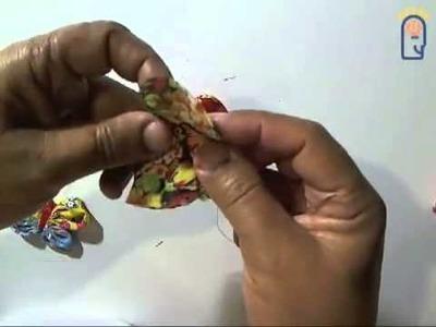 Curso de Artesanato - Aula 006 - Fuxico Flor V