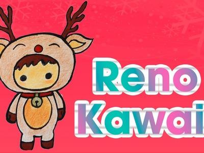 Dibuja un reno kawaii navideño DIBUJOS DE NAVIDAD Aprende a Dibujar