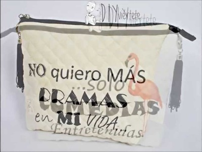 DIY Costura, Clutch o Cartera con Texto