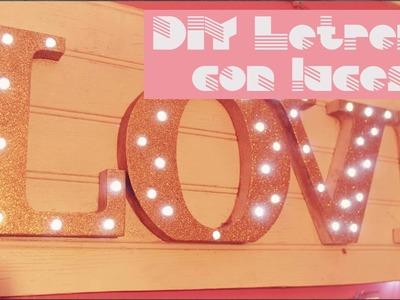 DIY Letrero con luces led