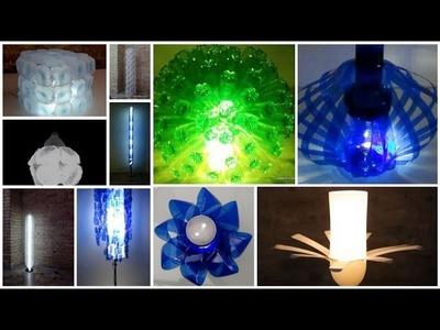 DIY.Más de 20 lámparas creativas con material reciclado - + 20 lamps made out of recycled material