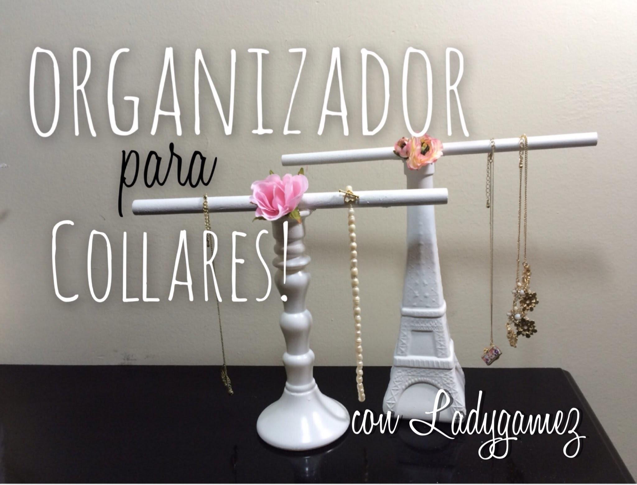 DIY-Organizador de Collares! Necklace Rack!