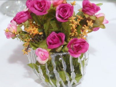 DIY Vaso de Flores de Cola Quente #VEDA17