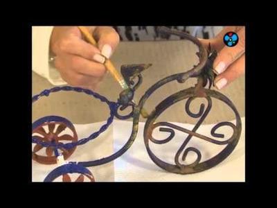 Imitación óxido sobre metal - Lidia Gonzalez Varela en Manos a la Obra