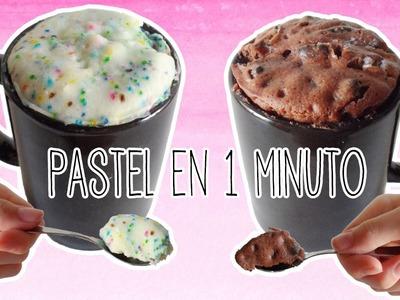Pastel en una taza sin horno en 1 minuto - mug cake de oreo y chocolate - Tutoriales Belen