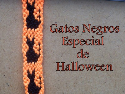 Pulsera de Hilo: Gato Negro Especial de Halloween