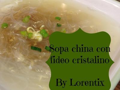 Sopa china con fideos cristalinos, arroz, asia, soup, fideo de arroz I Lorentix