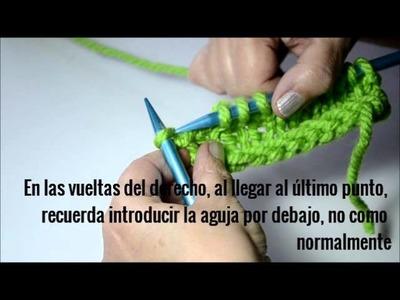 TUTORIAL PEARL KNITTER TIPOS DE PUNTO ORILLO