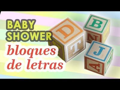 Adornos para baby shower | Bloques vintage DIY HD