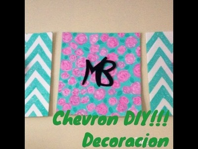Chevron Diy decoracion de habitacion