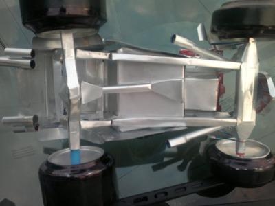 Como hacer un Hot Rod con latas de aluminio tutorial cap.4