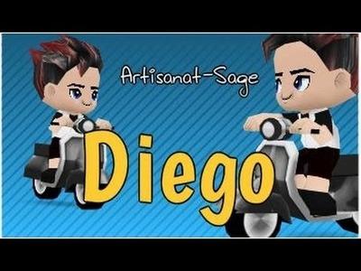 """Decoración de nombres-DIEGO- DIY """"caligrafía básica"""""""