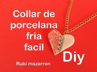 Diy. Colgante San Valentin de porcelana fria