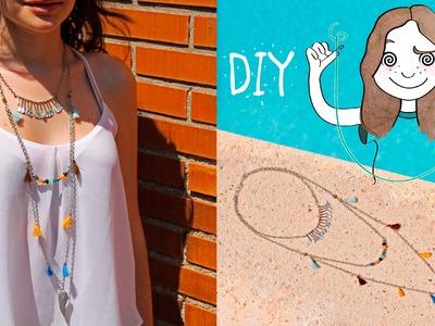 DIY Collar largo Boho chic style I Diypnotizada