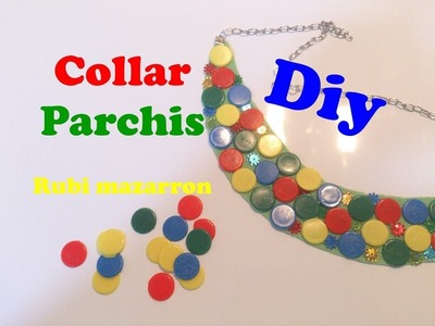 Diy. Collar Parchis facil. Necklace easy ludo parchis