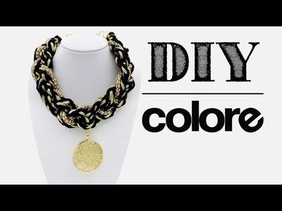 DIY Collar Trenzado Cadena y Dije con Cristal | Colore Accesorios
