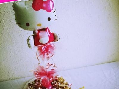DIY Como Centro De Mesa DE Hello Kitty de globo