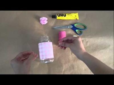 DIY Florero Rosa pastel. Pink Flower Pot