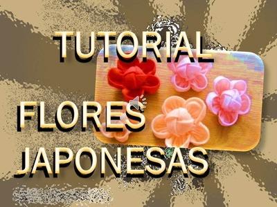 DIY-FLORES JAPONESAS PARA DECORAR - PATRONES PARA DESCARGAR GRATIS -Japanese flowers pattern free