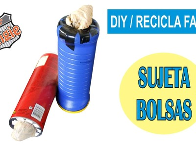 DIY. SUJETA BOLSAS SUPER FACIL