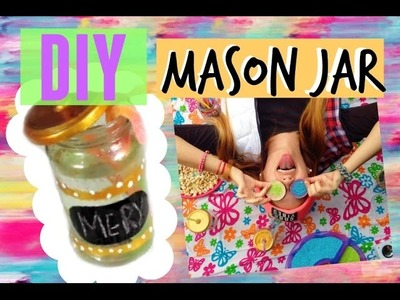 DIY VASO MASON JAR. REGALO DÍA DEL AMIGO! ft. NATI GUIDA!