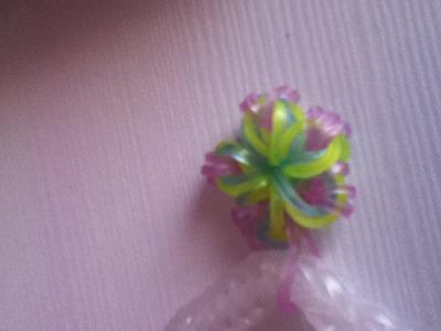 Tutorial: flor hecha con gomitas (sin telar)